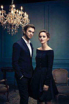 Dan Stevens and Emma Watson,