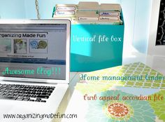 Organizing Made Fun: For the love of organizing: Portable office