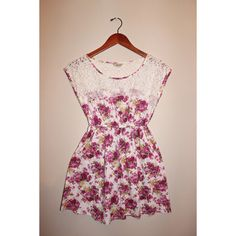PRICE REDUCTION! Floral Dress with Lace A fun, light, and flirty summer dress. Dresses