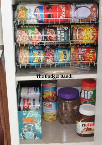 Repurposing for the sake of a organized pantry! Perfect solution to organizing your canned foods.  #gettingorganized
