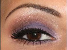 Purlple eyeshadow look added a little bit of brown to blend it up and out to the brow bone