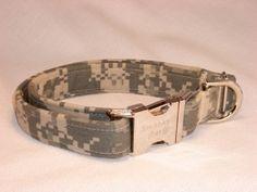 Advanced Combat Canine - Digital ACU Print Collar by Swanky Pet