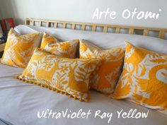 Yellow Otomi Pillow sham - - Hand embroidery - Wholesale Special - off - Yellow Pillow Sham Pillow case USD Pillow Shams, Bed Pillows, Pillow Cases, Early Black Friday, Yellow Pillows, Bird Theme, How To Make Pillows, Sale Promotion, Mexican Style