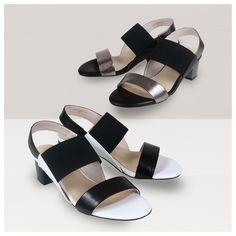 Step boldly into your day with a pair of block heel sandals. Understated yet so fashionably modern, adding a contemporary catwalk flair to your sandal rotation has never been easier. Spring Summer 2015, Summer Collection, Contemporary, Modern, Color Blocking, Block Heels, Catwalk, Footwear, Pairs