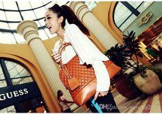 Luxury Genuine Ladies Handbag Fashion New Womens Rhombus Plaid Handbags Designer Handbags Totes Pu Leather Rivet Handbags For Business Nsh4 Womens Handbags Toting From Xinying2016, $16.03| Dhgate.Com