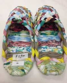 """Cloth mules """" pastel """" 23 cm/ 9.1 inches Japanese hand craft by ARTradeJAPAN on Etsy"""