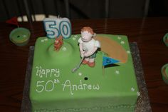 Golf themed cake for a 50th Birthday