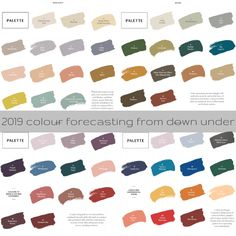 """If you're looking forward to next year, 2019 colour forecasting continues to evolve and develop with Dulux Australia's Filter. The colour collection is """"all Color Trends, Design Trends, Dulux Australia, Color Combinations, Top Colour, Color Combos, Colour Combinations, Colour Schemes"""