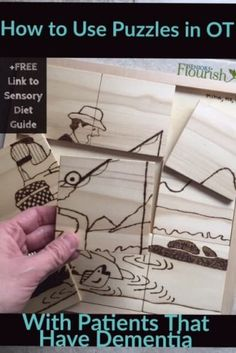 Get new tx ideas using puzzles in #OT with your patients that have dementia - what kind are best, how to use them + ways to use them in a sensory diet | SeniorsFlourish.com #geriatricOT #occupationaltherapy