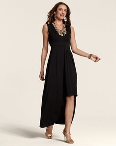 ab89513c1f1 Chicos Womens Black Riley Dress in Black Essentials from Chico s on  shop.CatalogSpree.com. New Arrival ...