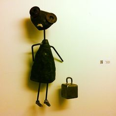 """HEAVY LIFTING"""" - DAVID ARMSTRONG (STEEL SCULPTURE). PHOTOGRAPHED BY ME AT BUSHWICK OPEN STUDIOS 2012."""