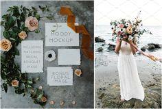 Moody Wedding Invitation Mockup by Wander and Rose on @creativemarket
