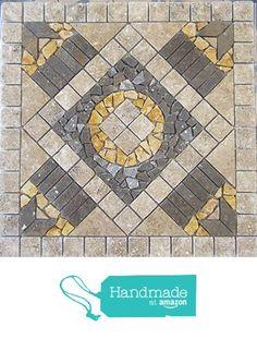 "24"" Tumbled Travertine and Volcano Natural Stone Mosaic Medallion Floor or Wall Tile Art https://www.amazon.com/dp/B01HQG5V36/ref=hnd_sw_r_pi_dp_aQaDxbMENWSHF #handmadeatamazon"