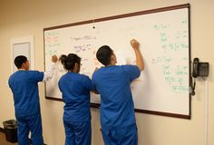 Students in the pharmacy technician program practicing their math conversions #CharterSuccess #Oxnard #PharmacyTech