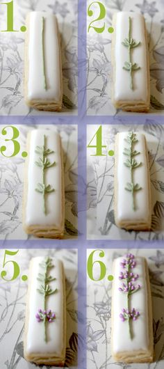 Icing lavender flowers