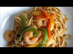 Mes Nouilles Chinoises aux Crevettes et Poivrons - YouTube