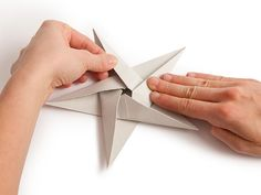 Folding Origami Star