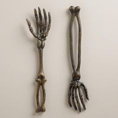 One of my favorite discoveries at WorldMarket.com: Skeleton Hand Servers, Set of 2