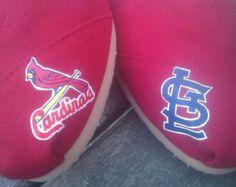 Custom Painted St Louis Cardinals Toms