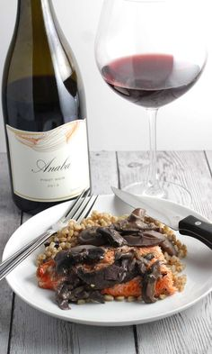 Anaba Pinot Noir from the Sonoma Coast is an excellent wine, and wonderful paired with grilled salmon.