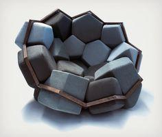 #Furniture Fanatic: Quartz #Armchair by CTRL ZAK x Davide Barzaghi