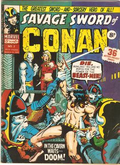 Savage Sword of Conan. No. 2. U.K. Marvel Comic. 15th March 1975.