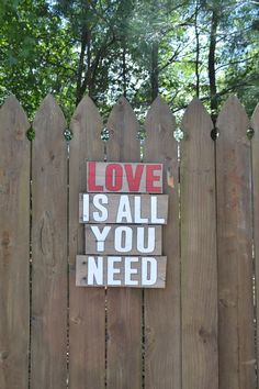 Hey, I found this really awesome Etsy listing at https://www.etsy.com/listing/199568413/love-is-all-you-need-reclaimed-wood-sign