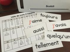 Includes 124 high-frequency words and a personal word wall list for students. French Teaching Resources, Learning French, French Worksheets, Core French, French Classroom, High Frequency Words, French Immersion, French Words, Children