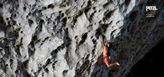 Great shot from Sam Bié of Said Belhaj climbing under the great Arch of Getu, China