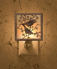 Park Designs Backyard Birds Night Light Includes ON/OFF switch Gives off a nice, soft light Wipe clean with a dry cloth Measures x Plugs into standard vertical outlets and 5 watt bulb is included Bird Theme Nursery, Baby Girl Nursery Themes, Nursery Decor, Themed Nursery, Baby Decor, Nursery Room, Nursery Ideas, Bedroom Decor, Best Night Light