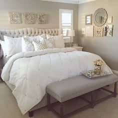 Decorating the bedroom apartment decor home decor, home deco Dream Bedroom, Home Bedroom, Pretty Bedroom, Teen Bedroom, Funky Bedroom, Bedroom Interiors, Stylish Bedroom, Gray Gold Bedroom, Bedroom Decor Elegant