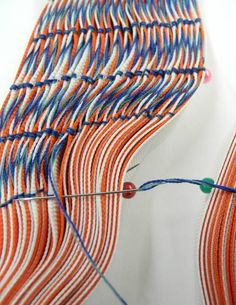 Asami Ohara is a textiles and embroidery designer, graduating the Glasgow School of Art in 2015. She creates unique abstract patterns and introduces new stitches with  her knowledge of hand embroidery techniques. In her design process,  photography and collage drawing are often applied to colour and composition analysis.
