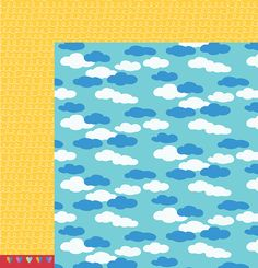 American Crafts - Pebbles - Party with Amy Locurto - 12 x 12 Double Sided Paper - Head In The Clouds at Scrapbook.com $0.99
