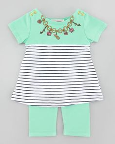 Necklace Print Tee & Legging Set by Juicy Couture Baby at Neiman Marcus.