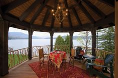 A Lakeside Suite Deck by Lake Placid Lodge NY, via Flickr