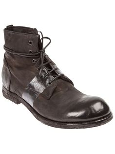 OFFICINE CREATIVE - distressed lace-up boot