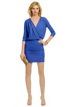 There is still something so elegant about long-sleeves in the summer night. Sexy Dresses, Blue Dresses, Athletic Dresses, Dresses To Wear To A Wedding, Haute Hippie, Short Cocktail Dress, New Blue, Faux Wrap Dress, Fashion Outfits