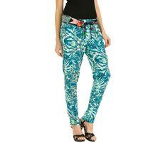 Green flowing pants | Desigual Hawai