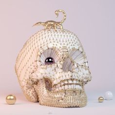 I'm always watching you 🔮  #c4d #cinema4d #3d #vrayrender #vray #skull #surrealart #digitalart #aitanabasquiat