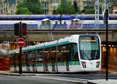 Alstom & RATP - Tram de Paris - France Ligne 3 du tramway de Paris Design extérieur du véhicule, concept de l'aménagement intérieur - Agence RCP Design Global