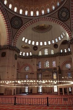Suleymaniye Mosque is the largest mosque of Istanbul built by Sultan Suleyman the Magnificent in the 16th century.