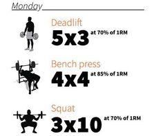 Rutinas para cada tercer día que te ayudarán a fortalecer tu tren inferior tus pectorales espalda y hombro. #SoyFit #WorkOut