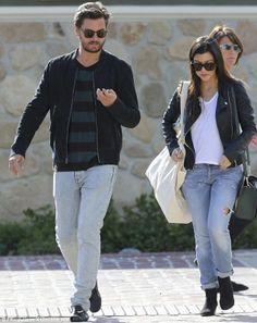 Leather jacket, boyfriend jeans, booties
