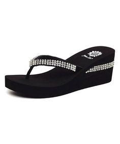 Love this Black Wise Platform Sandal by Yellow Box Shoes on #zulily! #zulilyfinds