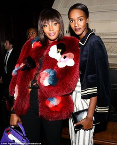 Stunning: Leila Nda joined the supermodel for a chat at the event...