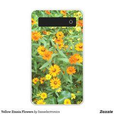 Yellow Zinnia Flowers Power Bank