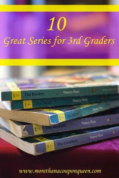 10 Great Book Series for 3rd Graders - Number 2 is my favorite!
