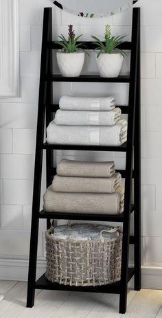 Legend Big DIY Bathroom Storage Ideas # Storage Ideas # bathroom # tool - DIY Home Decor Bathroom Towel Storage, Bathroom Organisation, Home Organization, Bathroom Towels, Vanity Bathroom, Organizing, Design Bathroom, Bathroom Styling, Towel Rack Bathroom