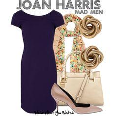 Inspired by Christina Hendricks as Joan Harris on Mad Men.
