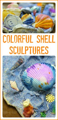 Let children use colorfully painted shells and clay to create ocean masterpieces!